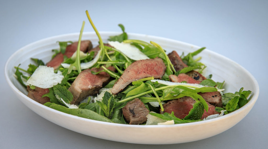 Lamb Silverside with Rocket and Parmesan
