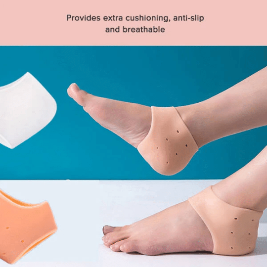 Silicone  gel Heel  pad socks Cushions moisturizing also protects from slipping
