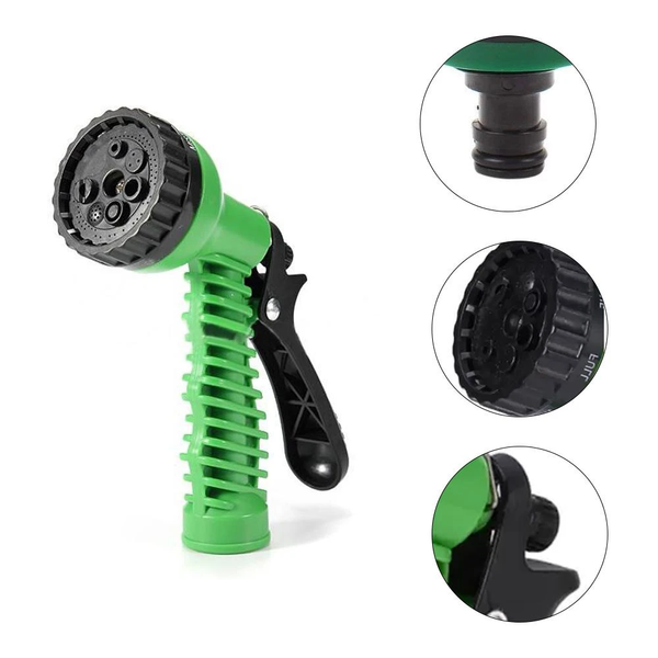 Labor-saving and non-slip design make this hose nozzle feels good in the hand. You won't feel tired even after holding it for a long time.