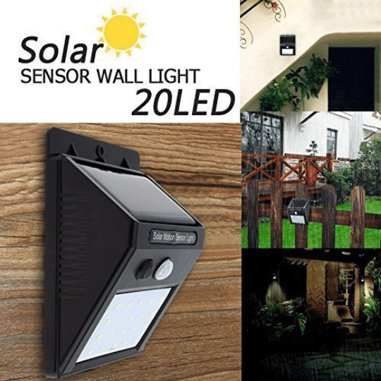 Security Motion Sensor LED IN-BUILT MOTION SENSOR FOR SECURITY wide 120 degree sensing angle along with sensing range of 3-5 feet. light automatically turns on in the dusk/dark and turns off at dawn.
