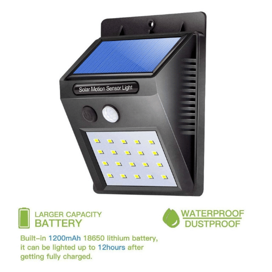 Solar LED light to save electricity WATERPROOF, WEATHERPROOF  & DURABLE, completely sealed, intact and weather proof with independent waterproof switch, can withstand years of usage. Durable, can withstand years of usage. huge life span