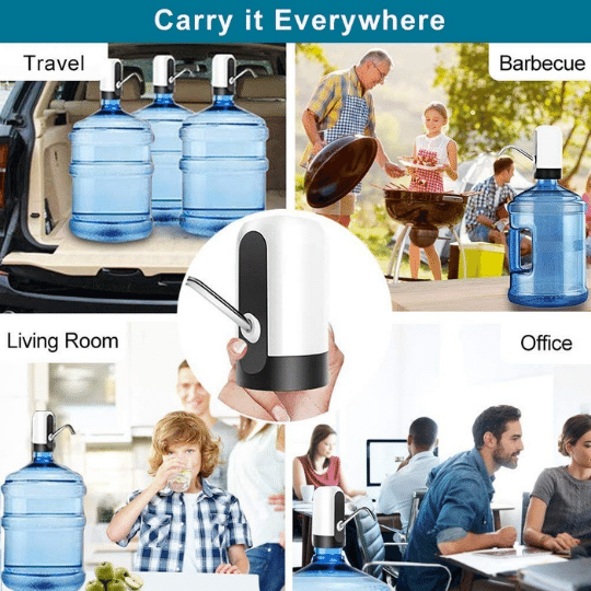 Portable electric wireless water dispenser easy to clean, carry it anywhere, simple convinient