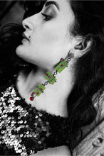 Load image into Gallery viewer, CUBIST EXO JADE LONG EAR RING