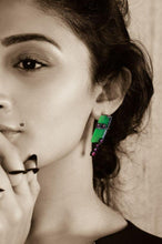 Load image into Gallery viewer, CUBIST JADE EAR RING