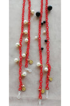 Load image into Gallery viewer, FABRIC ENTWINED N PEARLY EYE WEAR CHAINS