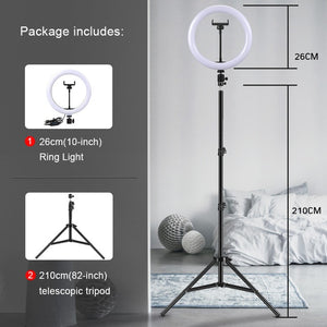 Ring Light with Arm Stand/Tripod