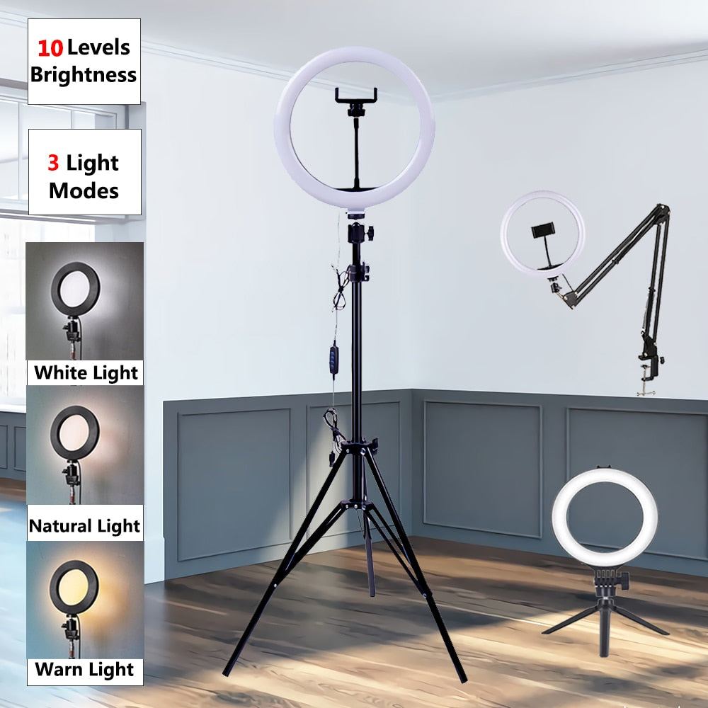 Color Changing LED Ring Light USB Set