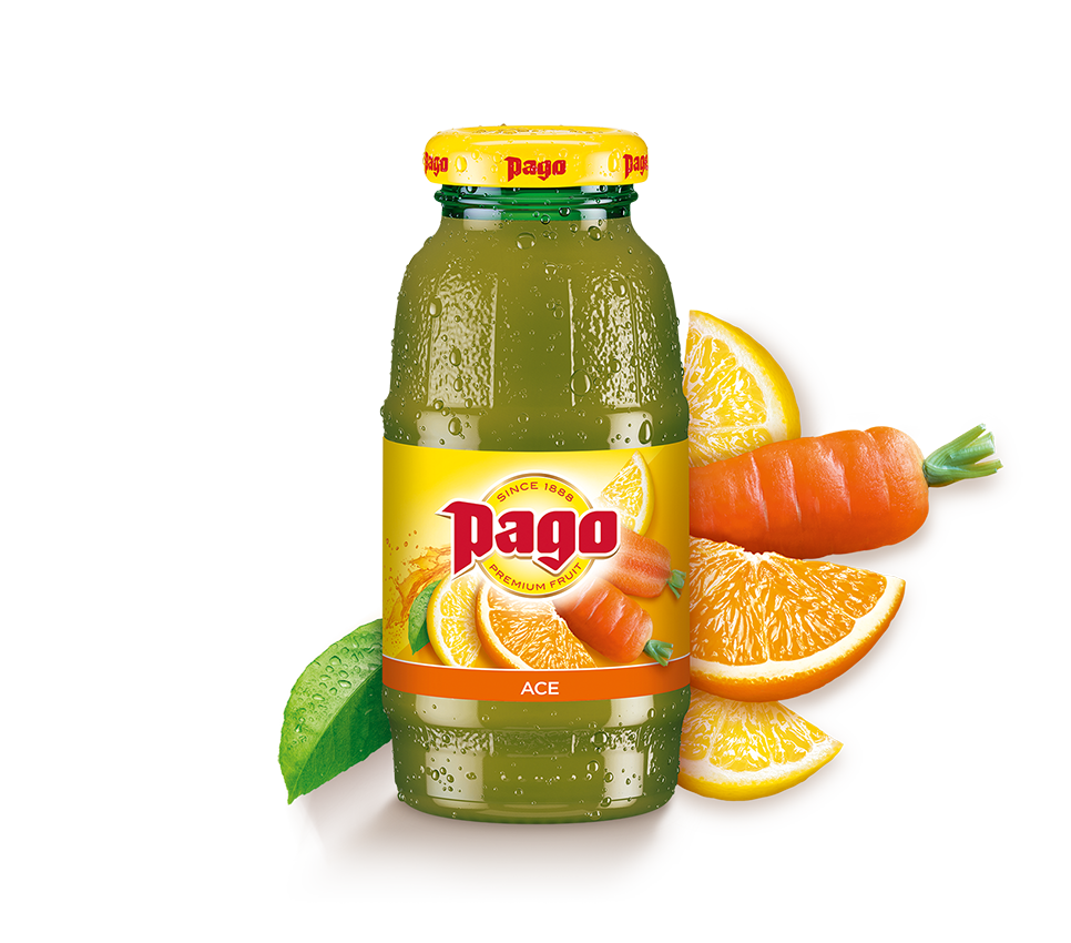 Pago ACE (Orange, Carrot & Lemon) Juice (12x200ml)