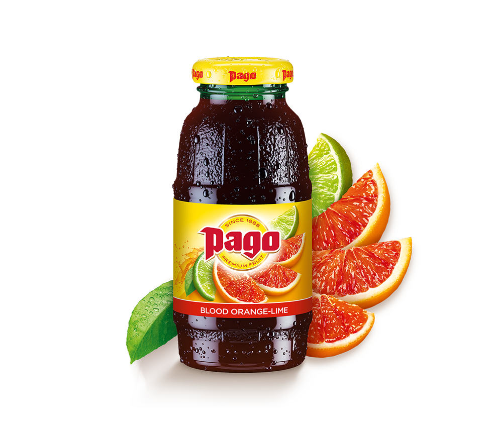 Pago Blood Orange and Lime Juice (Single Bottle)