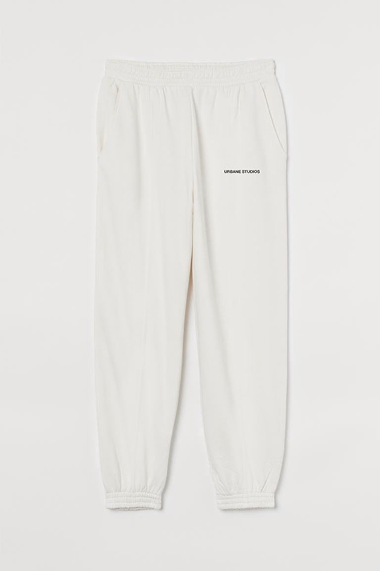 Loose Sweatpants in Bone White - Urbane Studios