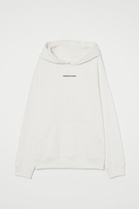 Loose Hoodie in Bone White - Urbane Studios
