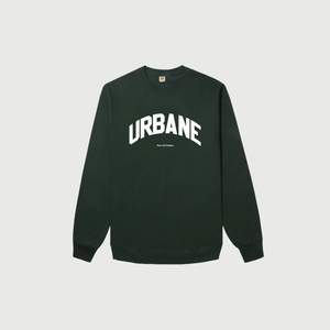 Peace and Progress Crewneck in Forest - Urbane Studios