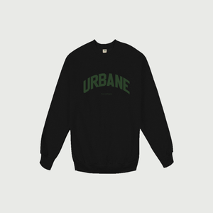 Peace and Progress Crewneck in Onyx - Urbane Studios