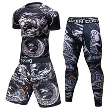 Load image into Gallery viewer, Brand New Men Tracksuit Sports Suit Gym Fitness Compression Clothes Running Jogging Sport Wear Exercise Workout Rashguard Tights