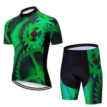 Load image into Gallery viewer, Teleyi Gear Cycling Jersey Set Men Summer Mountain Bike Clothing Pro Team Cycling Clothing Racing Sport Bicycle Wear Clothes