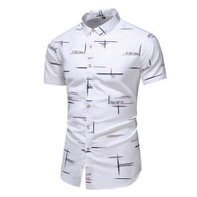 Load image into Gallery viewer, Casual Short Sleeve Shirt Fashion Design 9 Style Men Shirt Printed Beach Blouse Summer Clothes