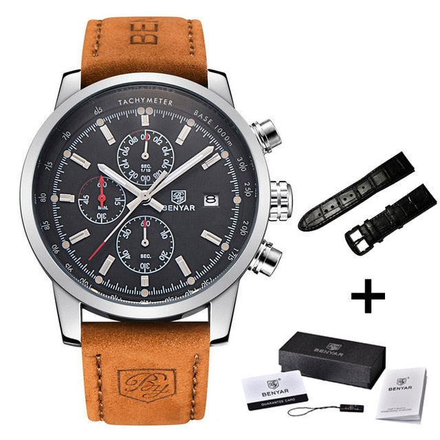 Fashion Chronograph Sport Mens Watches Saat Watch Male Watch relogio Masculino