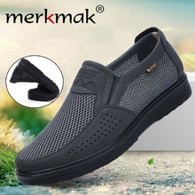 Load image into Gallery viewer, Merkmak Men Casual Comfortable Breathable Summer Shoes New Non-slip Men Lightweight Sports Shoes Large