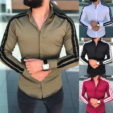 Load image into Gallery viewer, arrival Long Sleeve Mens Shirts Button Up Business Work Smart Formal Plain Dress Top Casual Slim Fit Men Men's Clothing
