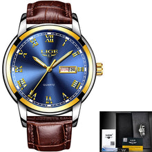 Load image into Gallery viewer, Mens Watches Best Luxury Water Resistant Sports Military Watch Genuine Leather Relogio Masculino
