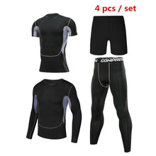 Load image into Gallery viewer, 5pcs / set Men's Tracksuit Gym Fitness Compression Sport Suit Clothes Running Jogging Sports Wear Exercise Workout Tights