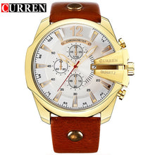 Load image into Gallery viewer, Men Watch Men Quartz Wrist Watches Male Clock Leather Wrist Watches with Calendar