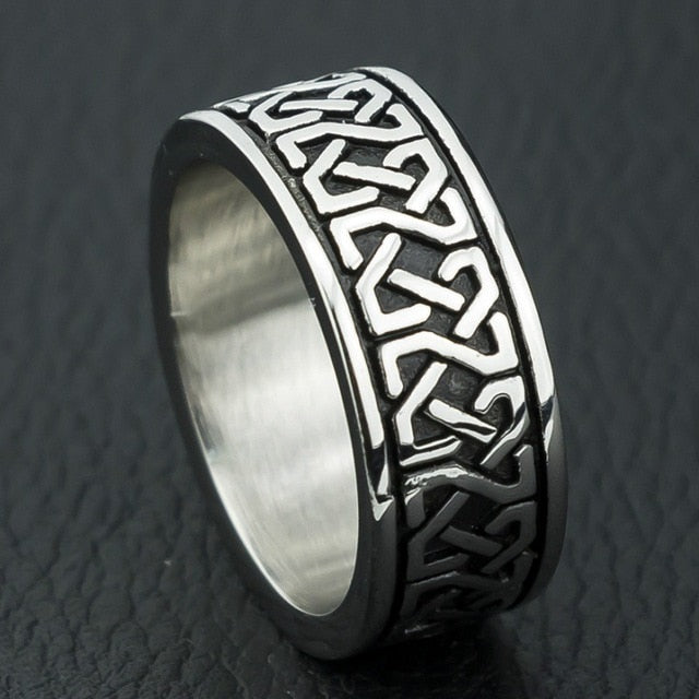 Bohemian Style Geometric Pattern Men's Ring Charm Men's Accessories Wedding Ring
