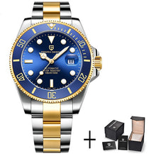 Load image into Gallery viewer, Luxury Design Men Watches Automatic Black Watch Men Stainless Steel Waterproof Business Sport Wristwatch