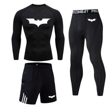 Load image into Gallery viewer, New Batman logo Compression Men's Sport  Quick Dry Running sets Clothes Tracksuit Joggers Training Gym Fitness Superhero mens