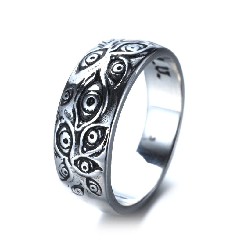 Retro fashion gothic eye ring jewelry men ladies ring party leisure jewelry accessories gift wholesale