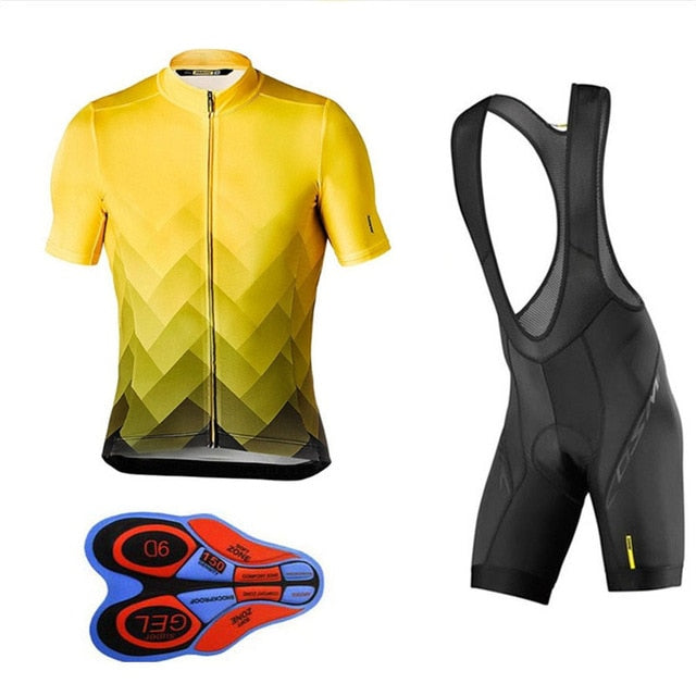 Team Mavic Cycling Jerseys Clothes Cycling Quick-dry Clothing Gel Bib Sets Ropa Ciclismo uniformes Maillot Sport Wear