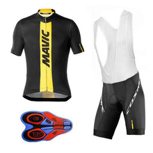 Load image into Gallery viewer, Team Mavic Cycling Jerseys Clothes Cycling Quick-dry Clothing Gel Bib Sets Ropa Ciclismo uniformes Maillot Sport Wear
