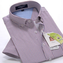 Load image into Gallery viewer, Striped Shirt High Quality Comfortable Cotton Fashion Men's Loose Short Sleeve Shirt