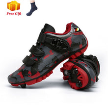 Load image into Gallery viewer, Mountain biking shoes men outdoor sports sapatilha ciclismo self-locking nonslip mountain bike sneakers racing women bike shoes