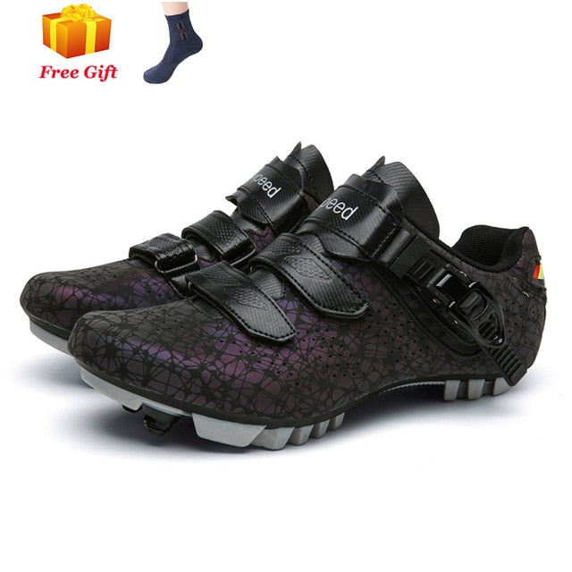 Mountain biking shoes men outdoor sports sapatilha ciclismo self-locking nonslip mountain bike sneakers racing women bike shoes