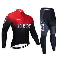 Load image into Gallery viewer, INEOS Long Sleeve Cycling Clothing Set Jersey Men Suit Breathable Outdoor Sports Bike Padded Clothes