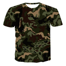 Load image into Gallery viewer, New 3D T-Shirt Men Summer Casual Camouflage Pattern Clothing T-shirt Quick Dry 3D Printed T-shirt