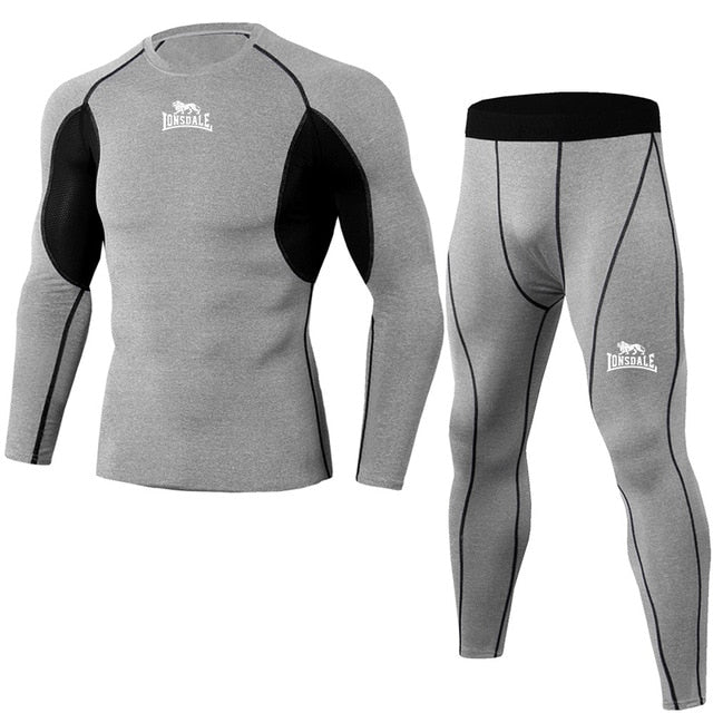 High Quality Men's Compression Sports Suits Quick Dry Running Kits Athletic Running Clothes Athletic Fitness Training Running
