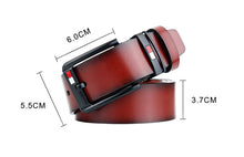 Load image into Gallery viewer, Men's High Quality Genuine Leather Belt Fashion Black Cowhide Business Pin Buckle Belt Men's Jeans Accessories For Man Cowboy