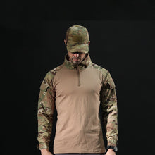 Load image into Gallery viewer, Men's Outdoor Tactical Hiking T-Shirts,Military Army Camouflage Long Sleeve Hunting Climbing Shirt,Male Breathable Sport Clothes