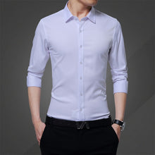 Load image into Gallery viewer, New Long-sleeved Shirt Men's Summer Clothes Casual Mens Shirts Slim Cotton Tops