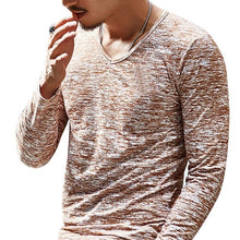 Load image into Gallery viewer, Men's Basic Long Sleeve T-Shirt Plus Size T-shirt Men's Casual Long-sleeved T-shirt Men's Clothing Stretch Shirt
