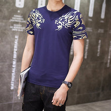 Load image into Gallery viewer, Men's T-Shirt Summer Casual Patchwork Short Sleeve T-Shirt Men Clothing Fashion Hip Hop Slim Fit Tee Shirt Plus