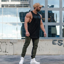 Load image into Gallery viewer, Fashionable Casual Bodybuilding Loose Solid Solid Vest Sleeveless Muscle Stringer Workout Shirt Contest Back Summer Sportswear