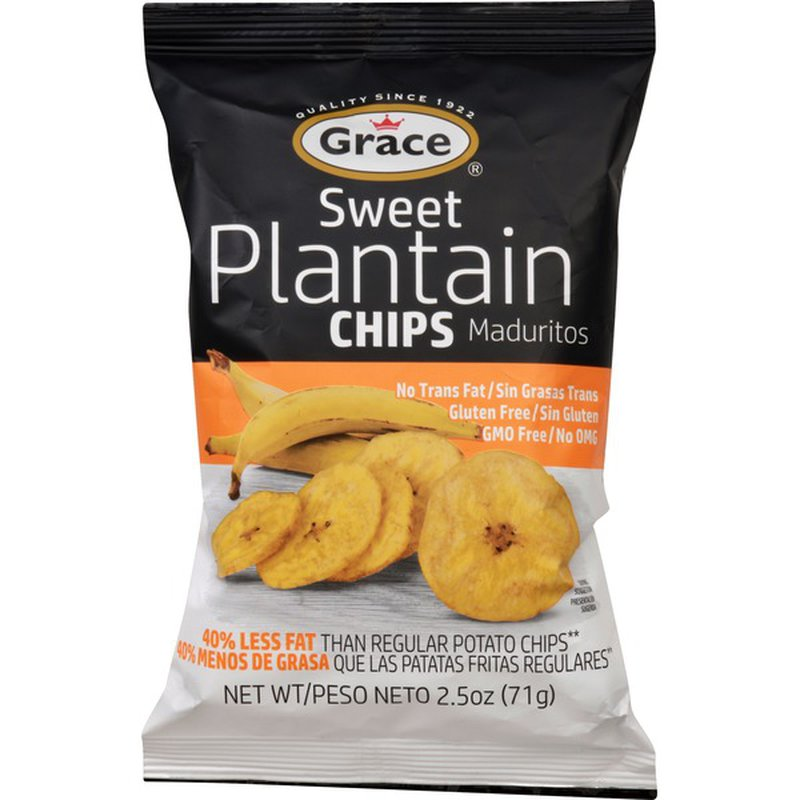 Grace Sweet Plantain Chips Salted 2.5oz