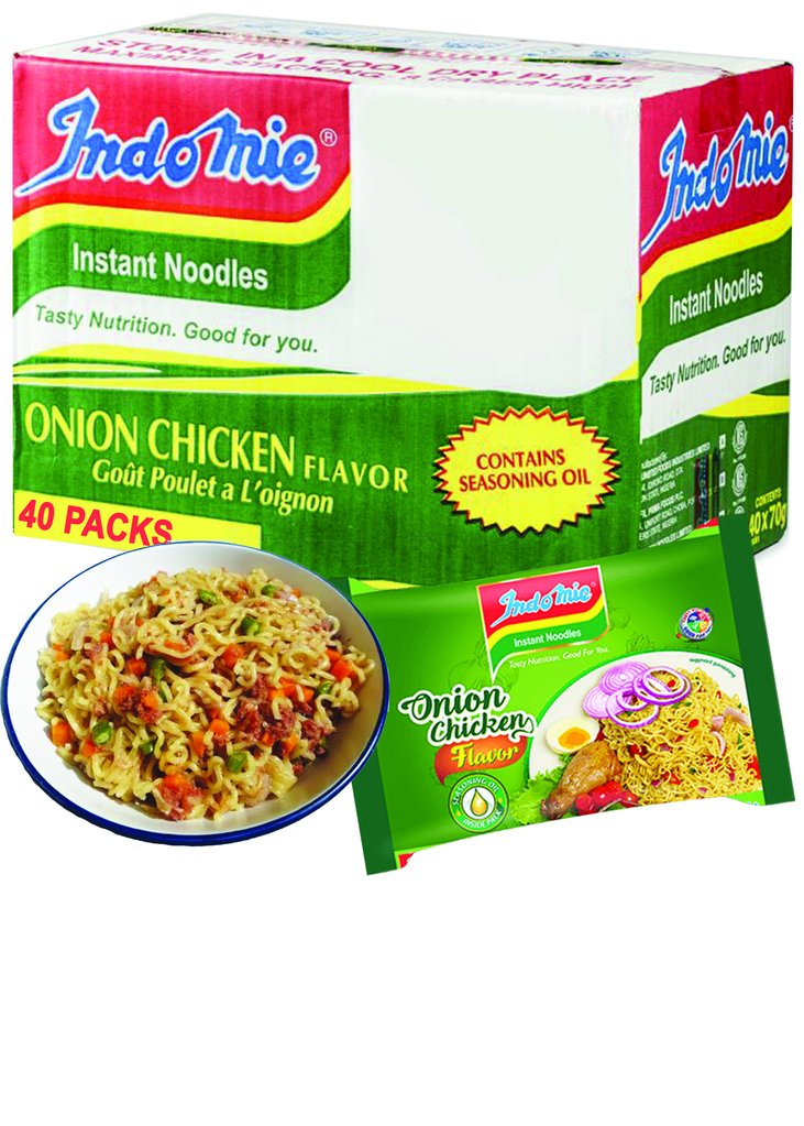 Nigerian Indomie Instant Noodle Onion Chicken  70g, Case of 40