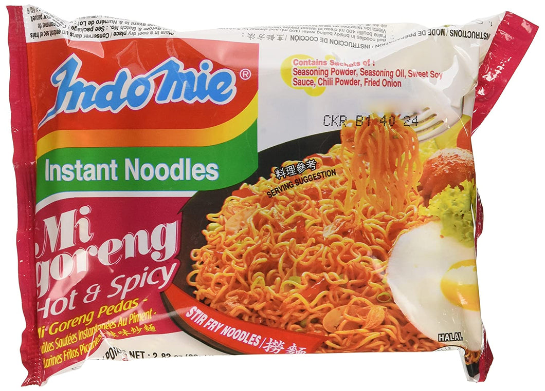 Indomie Mi Goreng Instant Noodle Hot & Spicy 80g