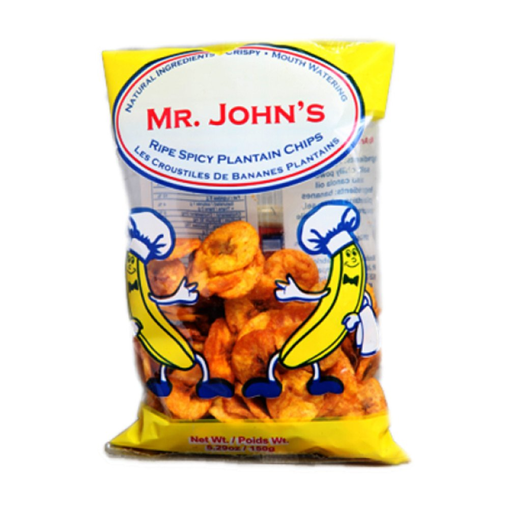 Mr. John's Spicy Ripe Plantain Chips 150G, Pack of 3