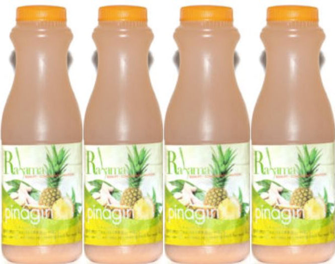 Rahama Pinagin Pineapple Drink (Pineapple and Ginger Drink) 16oz (Pack of 4)
