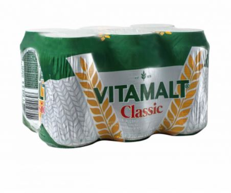 Vitamalt Classic 330ML [Can] Pack of 6